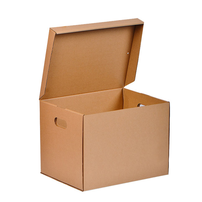 File Cardboard Storage Box with Lid